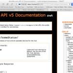 Screenshot of the API documentation on an Iris server.