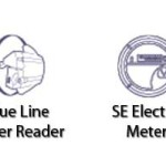 BlueLine Meter Reader on the left, and the unknown SE Electric Meter on the right.