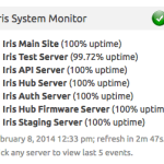Monitors the Lowes Iris System for issues.