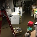 About 10,000 gallons of raw sewage backed up into the basement.