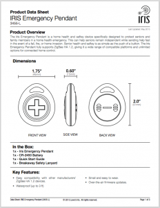 Setup instructions for the new, unreleased Iris Care Pendant.