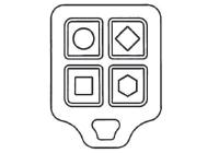 New Iris multi-button key fob close up.
